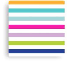 Big Bright Stripes Canvas Print