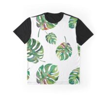 tropical green watercolor palm fronds Graphic T-Shirt