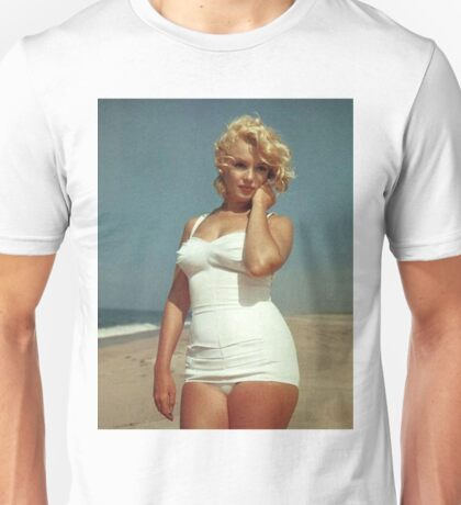 Marilyn Monroe White Swimsuit Unisex T-Shirt