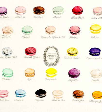 Laduree Macarons Flavor Menu Sticker