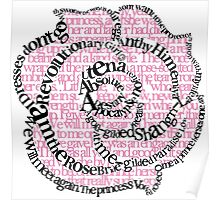 Utena Rose with Text Poster