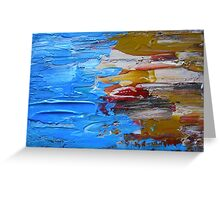 Beach Tide Acrylics On Stretched Canvas abstract impressionism Greeting Card