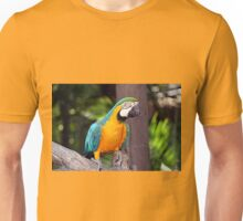 Yellow & blue macaw bird Unisex T-Shirt