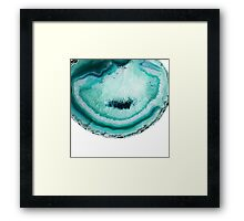 turquoise agate stone slice Framed Print