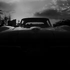 Silhouette of a Chevy C2 Corvette by mal-photography