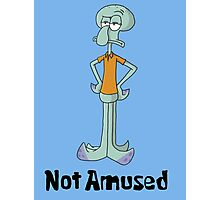 Squidward is Not Amused Photographic Print