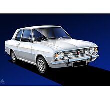 Poster Illustration Ford Cortina 1600 GT by RJWautographics