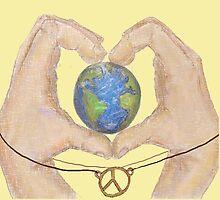love peace and earth  by irisleibo