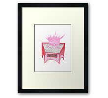 Abstract Alien Coral Plant Framed Print