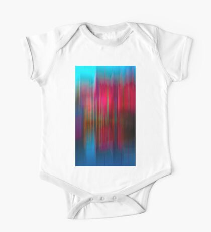 Red and Blue Reflection One Piece - Short Sleeve