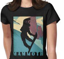 Snowboarding Betty at Mammoth, winter sport travel art Womens Fitted T-Shirt