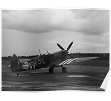 Waiting to scramble! Spitfire ready to go Poster