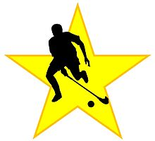 Field Hockey Player Silhouette Star by kwg2200