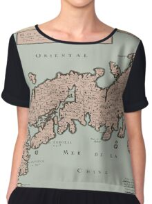 Map Of Japan 1650 Chiffon Top