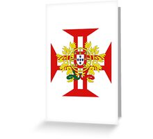 Portuguese Templar Cross with Coat of Arms Greeting Card