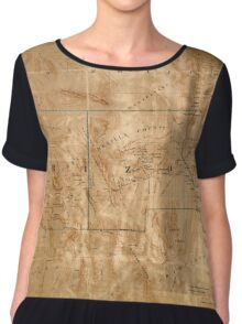 Map Of Arizona 1860 Chiffon Top
