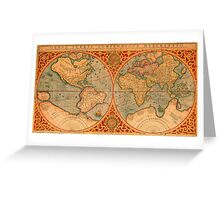 World Map 1587 Greeting Card