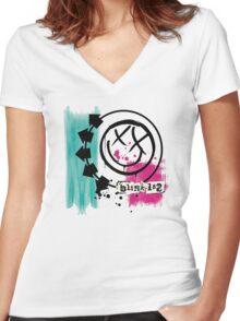 blink182 Women's Fitted V-Neck T-Shirt