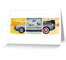 Back to the Future - DeLorean Greeting Card