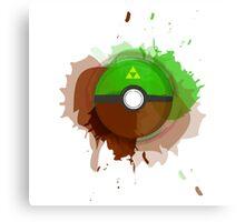 Legend of Zelda - Link Pokeball - Abstract Canvas Print