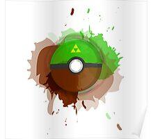 Legend of Zelda - Link Pokeball - Abstract Poster
