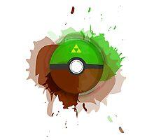 Legend of Zelda - Link Pokeball - Abstract Photographic Print