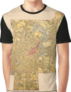 Map Of Los Angeles 1897 Graphic T-Shirt