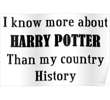 i know more about harry potter Poster