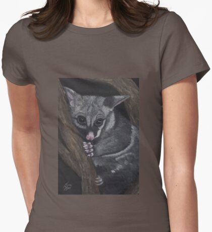 Twinkle-Toes: The Brushtail Possum Womens Fitted T-Shirt