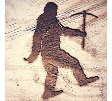 Bigfoot Rockhound Woodburn Photographic Print