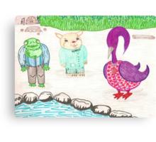 Frog, Hamster, Bird Canvas Print