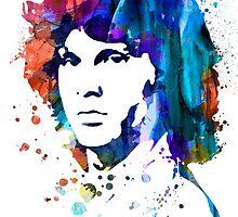 Jim Morrison by Watercolorsart