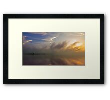 Reservoir Fog Framed Print