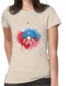 Marvel's Captain America - Pokeball - Abstract Womens Fitted T-Shirt