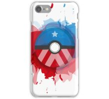 Marvel's Captain America - Pokeball - Abstract iPhone Case/Skin