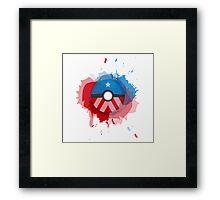 Marvel's Captain America - Pokeball - Abstract Framed Print