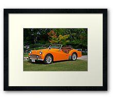 1960 Triumph TR 3a Framed Print