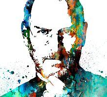Steve Jobs by Watercolorsart