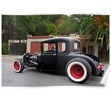 1930 Ford 'Fifties Style' Hot Rod Coupe Poster