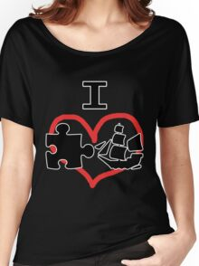 I Puzzle Ship  Women's Relaxed Fit T-Shirt