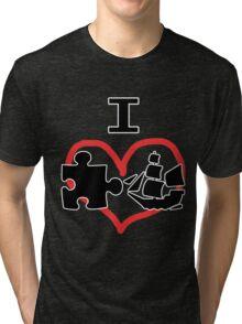 I Puzzle Ship  Tri-blend T-Shirt