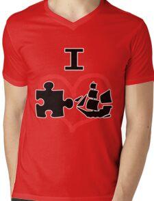 I Puzzle Ship  Mens V-Neck T-Shirt