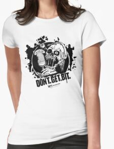 Don't. Get. Bit. (light colors) Womens Fitted T-Shirt