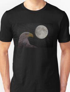 Bald Eagle With  Full Moon  Unisex T-Shirt