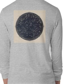 Antique Map of the Night Sky, 19th century astronomy Long Sleeve T-Shirt
