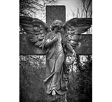 Angel on a Cross Photographic Print