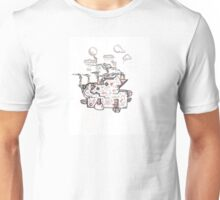 Abstract Alien Steampunk Plant Unisex T-Shirt