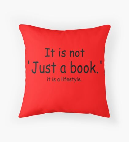 it is not just a book - red Throw Pillow