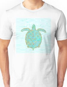 Tucker Turtle, swimming sea turtle coastal art Unisex T-Shirt
