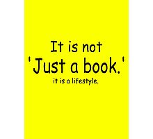 it is not just a book - yellow Photographic Print